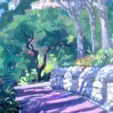 Alameda Gardens 1, 10x12 ins, oils on board