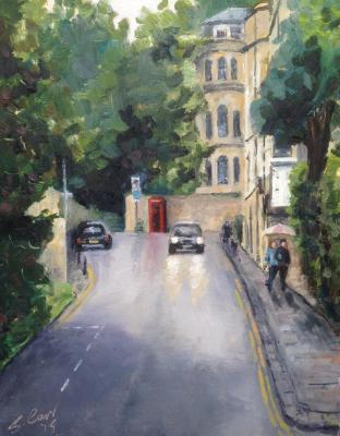 Cavendish Road, Bath, 8x10 ins, oils