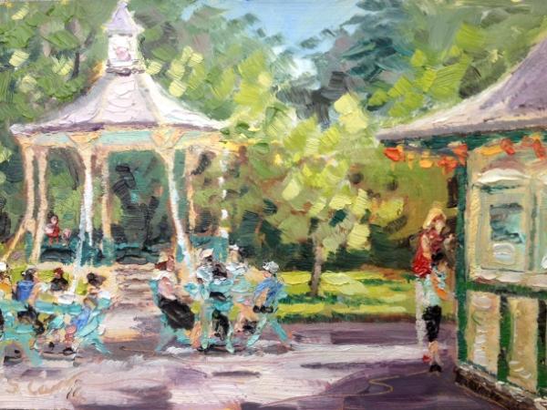 Swindon Old Town Gardens Painted Plein Air Susan M D