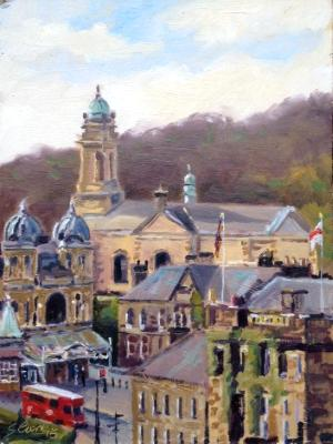 Buxton Opera House, 6x8 ins, oils on board.