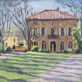 Cezanne's house in Aix en Provence, oil on wood, 8x10 ins