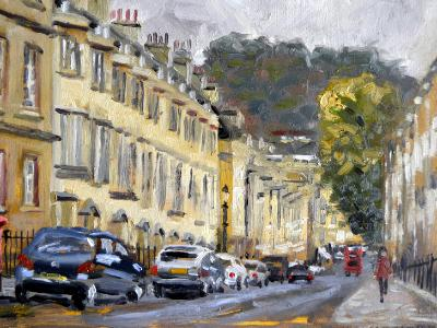 Gay Street, Bath, 10x8 ins, oils.
