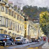 Gay Street, Bath, 10x8 ins, oils.
