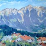 Austrian Alps near Innsbruck, oil on board, 10x8 ins