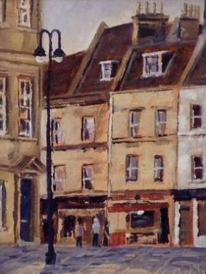 Kingsmead Square 8x6 ins, oils.